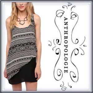 Anthropologie Striped Layered Dress